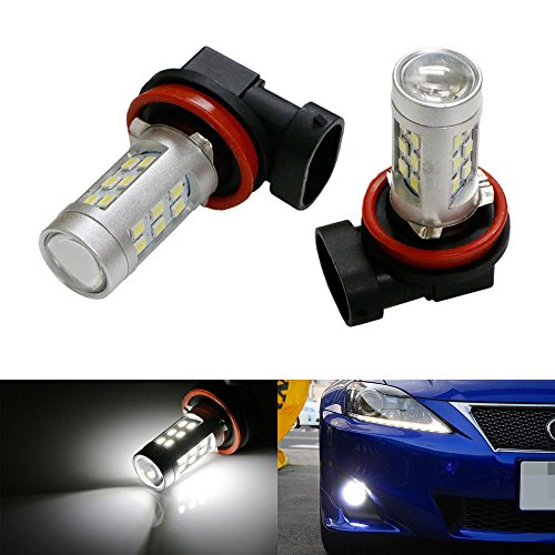 Ijdmtoy® (2) Super Bright Xenon White Top Projector 21-Smd H11 H8 Led Replacement Bulbs For Fog Light Driving Lamps