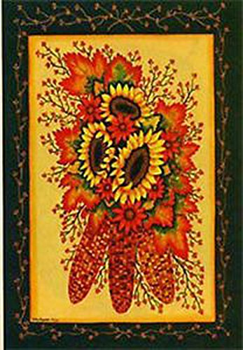 Sunflower Indian Corncob Large Flag (Indian Corn Cobs compare prices)