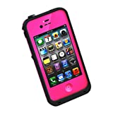 New Waterproof Shockproof Dirtproof Snowproof Protection Case Cover for Apple Iphone 4 4S Rose Red