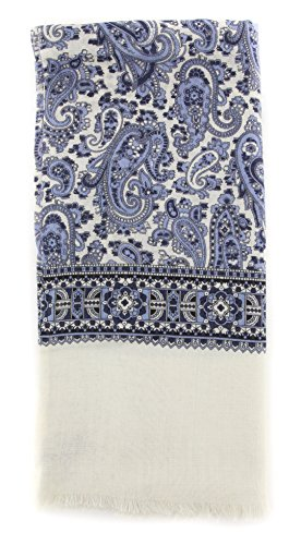 new-cesare-attolini-blue-wool-blend-scarf