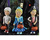 Pirate Mummy and Princess Trick or Treaters Set of 3 Halloween Fairy Garden 17325