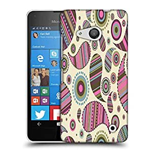 Snoogg Multicolor Pattern Designer Protective Phone Back Case Cover For Nokia Lumia 550