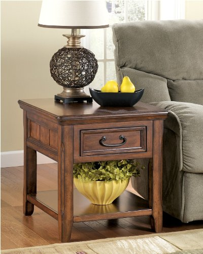 "Cheap DarkBrown Rectangular End Table – Design by ""Famous Brand"" Furniture (T478-3)"