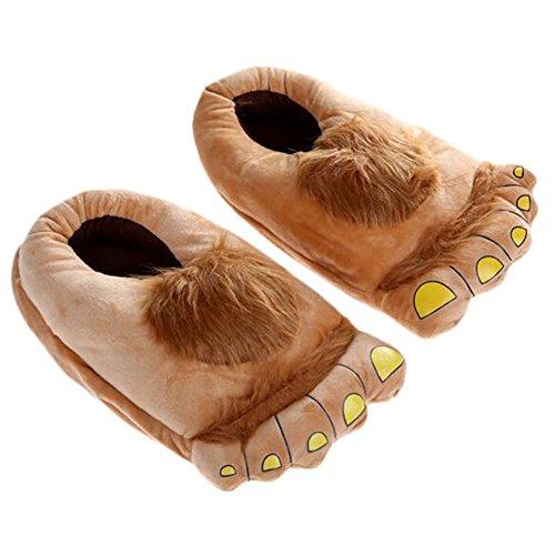 Jolie maison d'hiver Funny intérieur orteil Big pieds chaud pantoufles en peluche douce Design Cadeau adulte Chaussures