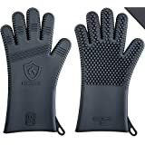 ★ Latest Technology in Men's Barbecue Gloves ★ 3 Sizes Available | Great for Grilling, Cooking, Baking & Smoking | Heat Resistant Silicone |Use as BBQ Grill Mitts, Oven Gloves & Pot Holders (Size L)