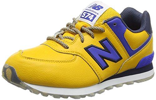 New Balance KL574Z1Y-574, Scarpe da Ginnastica Alte Unisex - Bambini, Multicolore (Yellow/Blue 723), 34.5 EU