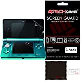 [Pack of 3] NINTENDO 3DS Top & Bottom CLEAR Screen Protectors with cleaning cloth (NOT FOR NEW 3DS RELEASED NOVEMBER 2014)