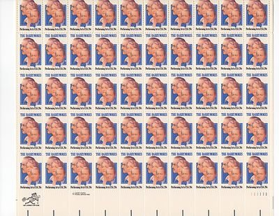 The Barrymores Sheet of 50 x 20 Cent US Postage Stamps NEW Scot 2012