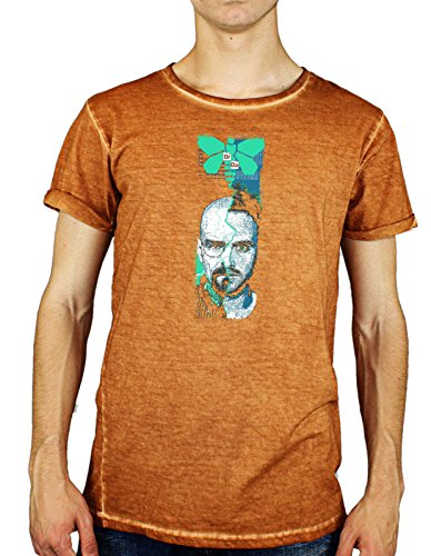 Tshirt effetto jeans effetto slavato breaking - serie tv - heisenberg - pinkman - - in cotone by UpSoft