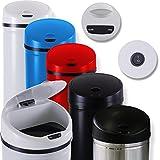 Kesser® Automatik Sensor Mülleimer Abfalleimer Abfall EDELSTAHL Papierkorb 30L 40L