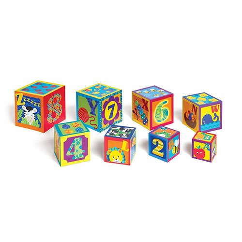 Earlyears ABC and 123 Stacking Cubes Baby Toy - 1