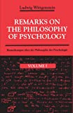 Remarks on the Philosophy of Psychology, Volume 1 (0226904369) by Ludwig Wittgenstein
