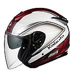 オージーケーカブト(OGK KABUTO) ヘルメットASAGI CLEGANT [クレガント] パールホワイト L(59-60cm)