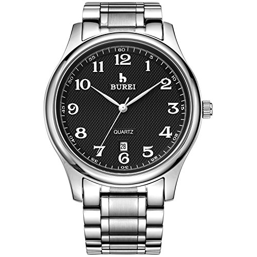 burei-business-casual-wrist-watch-for-men-with-day-date-calendar-black-dial-and-stainless-steel-brac