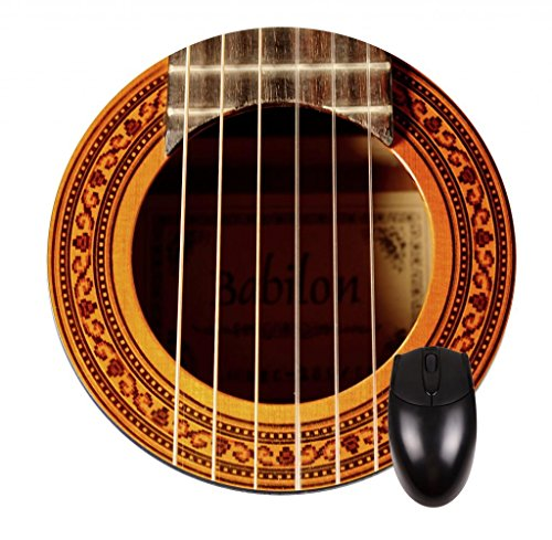 Guitar Strings - Round Mouse Pad- Stylish, Durable Office Accessory And Gift