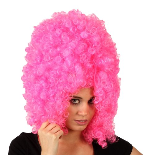 Imagen principal de Big pink afro wig for adults (peluca)