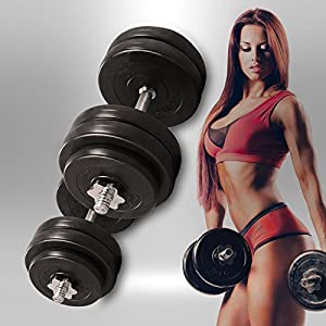 20KG 30KG 40KG 50kg Dumbbell Set Vinyl Gym Free Weights Biceps Fitness Dumbbells ★ (10 Kilograms)