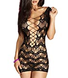 FasiCat Women Enticing Sexy Mesh Lingerie Set for Sexy Party Making Love Black7