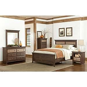 weatherly panel bedroom set queen