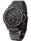 Detomaso - SM1624C-BK - Firenze - Montre Homme - Quartz Analogique - Chronographe - Bracelet en Acier Noir