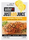 Weber Just Add Juice Marinade Mix, Lemon Pepper, 1.12 Ounce (Pack of 12)