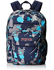 "JanSport Big Student Backpack - Mammoth Blue Super Splash / 17.5""H X 13""W X 10""D"