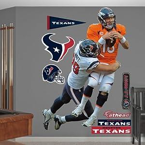 NFL Houston Texans J.J. Watt Takes It On Wall Graphics by Fathead