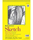 """Strathmore Sketch Spiral Paper Pad 9""""X12""""-100 Sheets"""