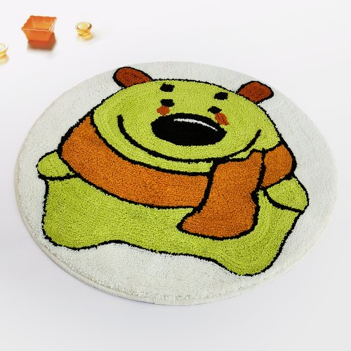 Naomi - [Green Bear] Kids Room Rugs (23.6 by 23.6 inches)