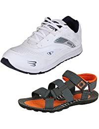 Tempo Men's Combo Pack Of Sports Shoes & Sandals