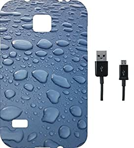 BKDT Marketing Beautifully printed Soft Back cover for Samsung Galaxy S5 With Charging Cable