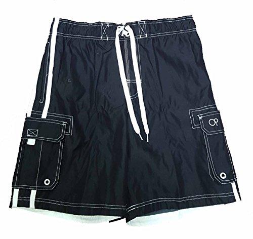 op-black-solid-side-stripe-tugger-above-knee-205-outseam-swim-trunks-large