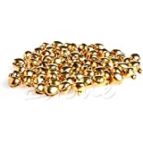 Generic Multi : 100pc Small Bell Craft Jewelry Wedding Charms 6mm Bead Findings Gold Mixed Color