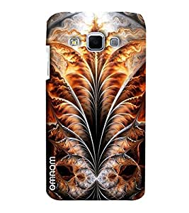 Omnam Leaf With Fire Effect Pattern Printed Designer Back Case Samsung Galaxy J3