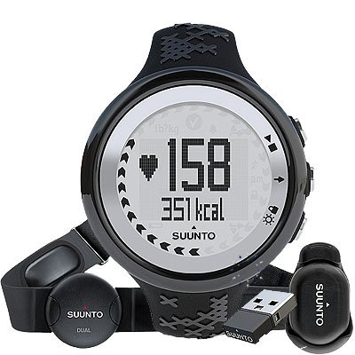Suunto M5 Heart Rate Monitor with Movestick (Black/Silver) Running Gps