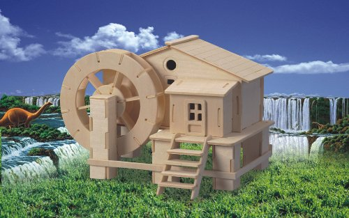 Picture of Fun Puzzled Water Mill 3D Natural Wood Puzzle (B004MQ6836) (3D Puzzles)