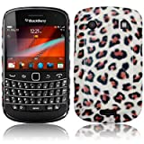 BLACKBERRY BOLD 9900 PU LEATHER BACK COVER CASE / SHELL / SHIELD - LEOPARD PART OF THE QUBITS ACCESSORIES RANGEby Qubits