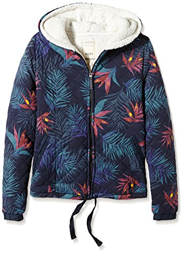 Roxy, Felpa in pile Donna, Blu (Midnight Palm Option 2 Combo), XL