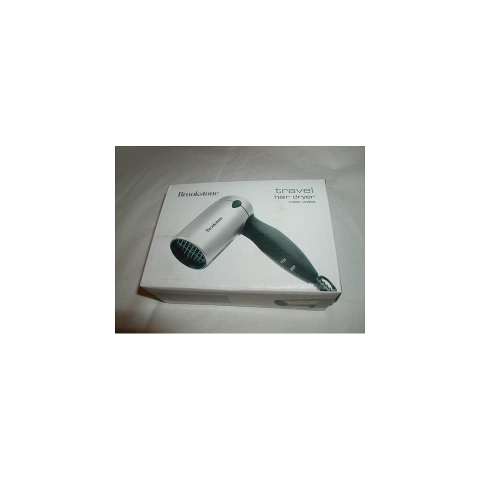 Brookstone Travel Hair Dryer Dries Har Fast Folds For