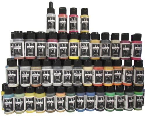 Save over 45% on the Badger Air-Brush Company Minitaire Color Paint Set with Color Coat/Paint Retarder