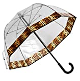 Frankford Clear Bubble Umbrella - Yellow Trims