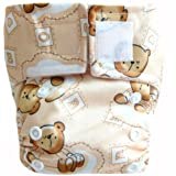 "Kawaii Baby Newborn Reusable Cloth Diaper Pure & Natural 6-22 Lb. With 2 Microfiber Inserts ""Milk Time"""