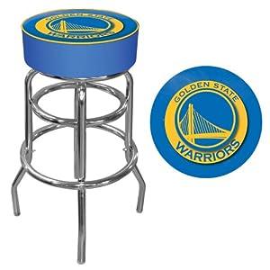 NBA Golden State Warriors Padded Swivel Bar Stool by Trademark Games