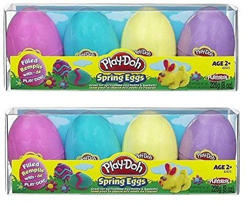 Play-Doh SPRING Eggs Filled with Play-Doh (2) 4-pack Multi Colored Eggs for E... - 1