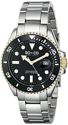 So&Co New York Men'S 5025.3 Yacht Club Quartz Date Gold Accent Watch