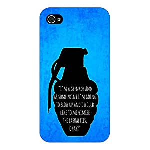 Jugaaduu TFIOS Grenade Back Cover Case For Apple iPhone 4S