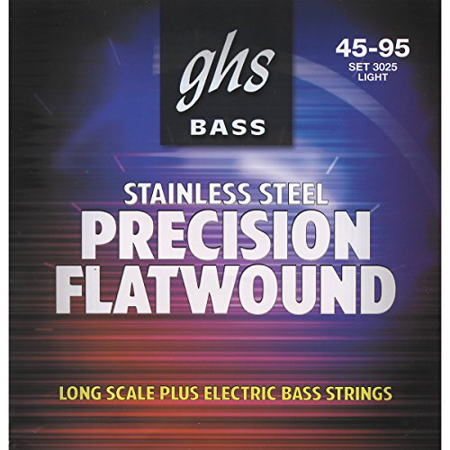 Ghs Stainless Steel Precision Flatwound Electric Bass Strings