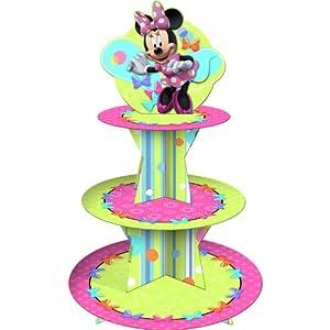 Hallmark Unisex Adult Disney Minnie Mouse Bow-tique Cupcake Stand Tan Medium