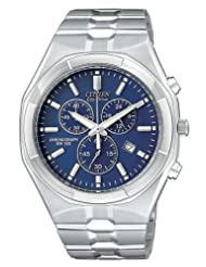 Citizen Men's AT0920-57L Eco-Drive Chronograph Stainless Steel Blue Dial Watch