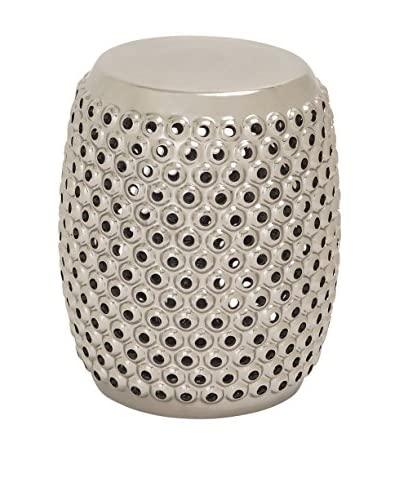 Ceramic Foot Stool, Silver